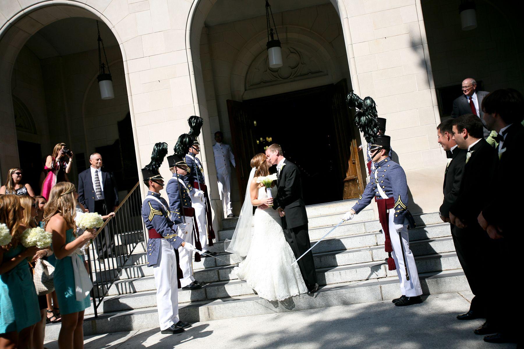 Citadel sword arch wedding