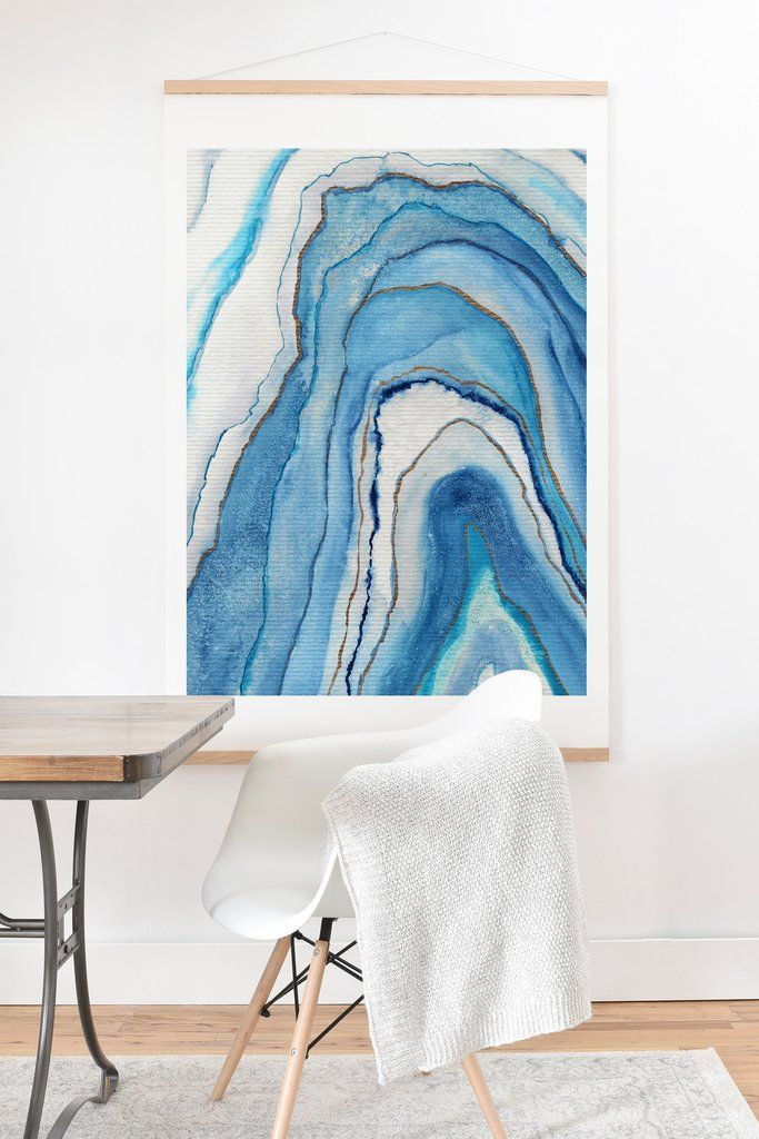 Viviana Gonzalez Agate Inspired Watercolor Abstract 02 Art Print