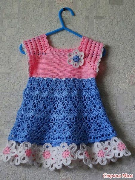 Vestido para niñas tejido a crochet con patrones01 | Vestiditos ...