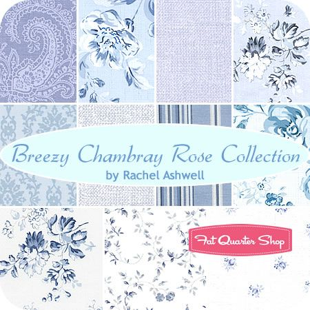 Cool Breezy Chambray Rose Collection Collection Fat Quarter Home Interior And Landscaping Ologienasavecom