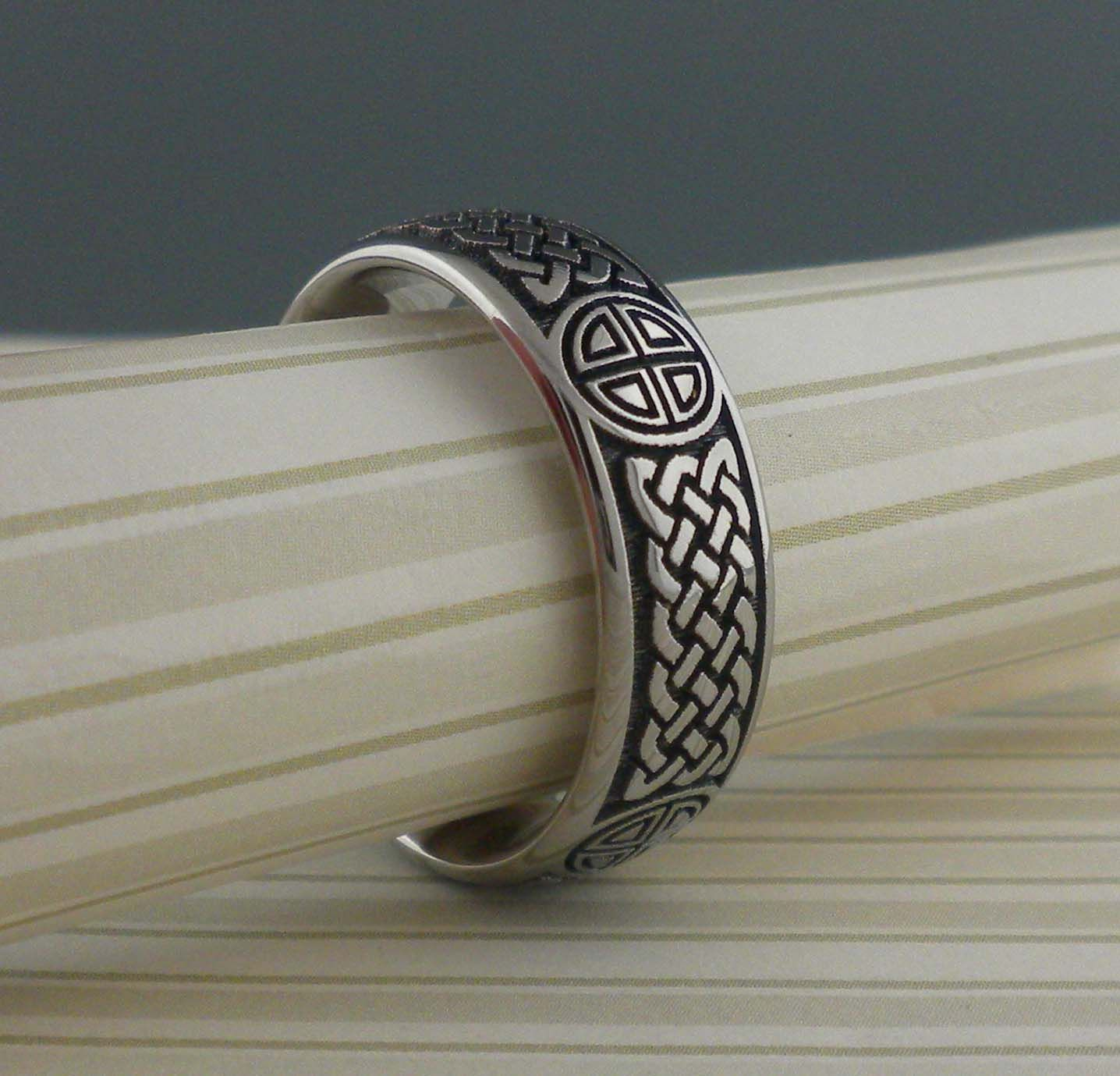 Celtic Knot Wedding Ring in Titanium by GETi Rings Pinterest