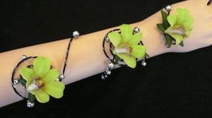 Unique Corsages and Boutonnieres | serpentine arm corsages created by Washougal WA Florist for Prom