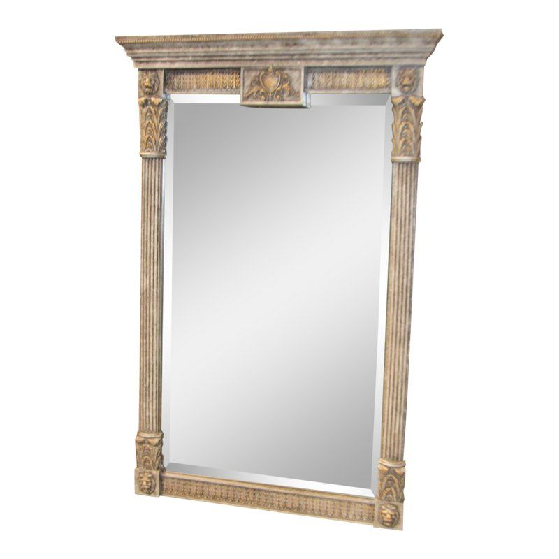 1980s Neoclassical Style Marbelized Finish Wall Mirror