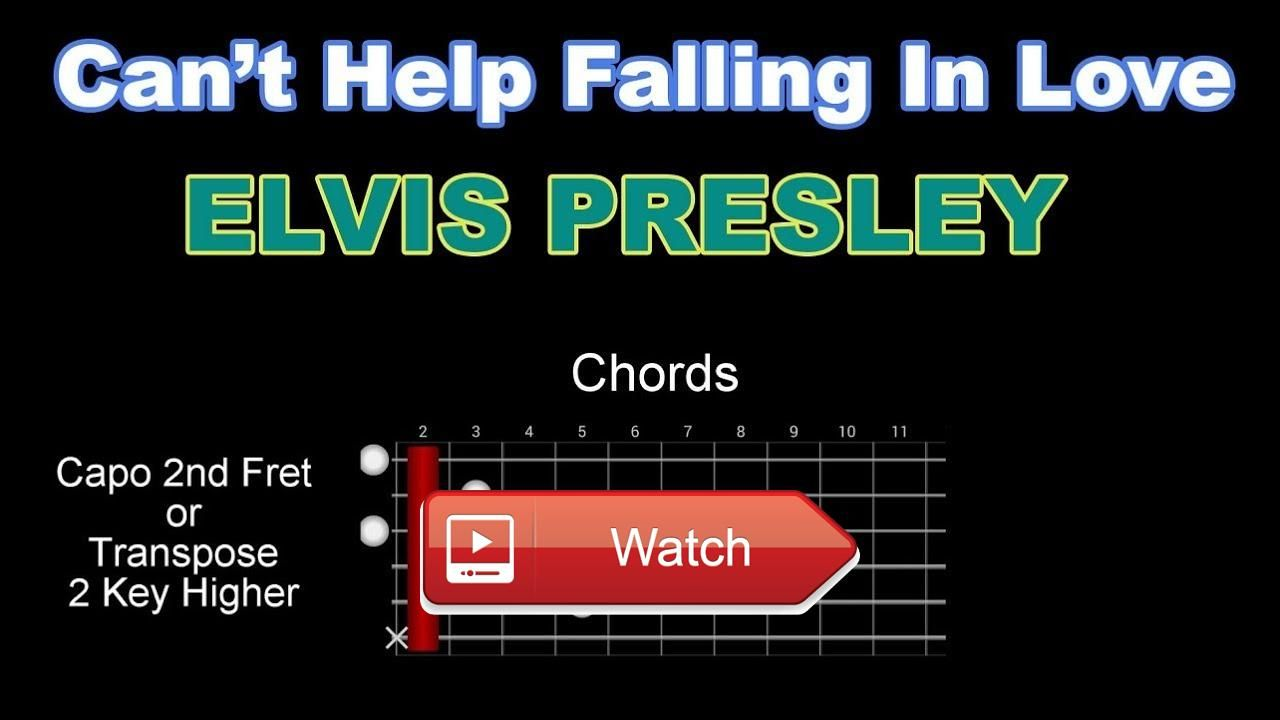 Cant Help Falling In Love Elvis Presley Acoustic Guitar Karaoke