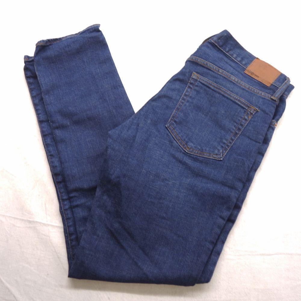 New Gap Mens Blue Dark Stonewash GapFlex Skinny Fit Denim Jeans Sizes 29-36