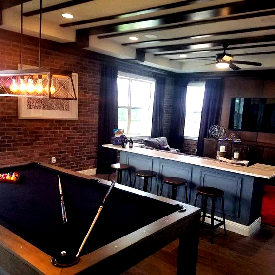 Bonus Room Design Inspiration With Pool Table And Home Bar In 2020 Bonus Room Design Garage Game Rooms Pool Table Room