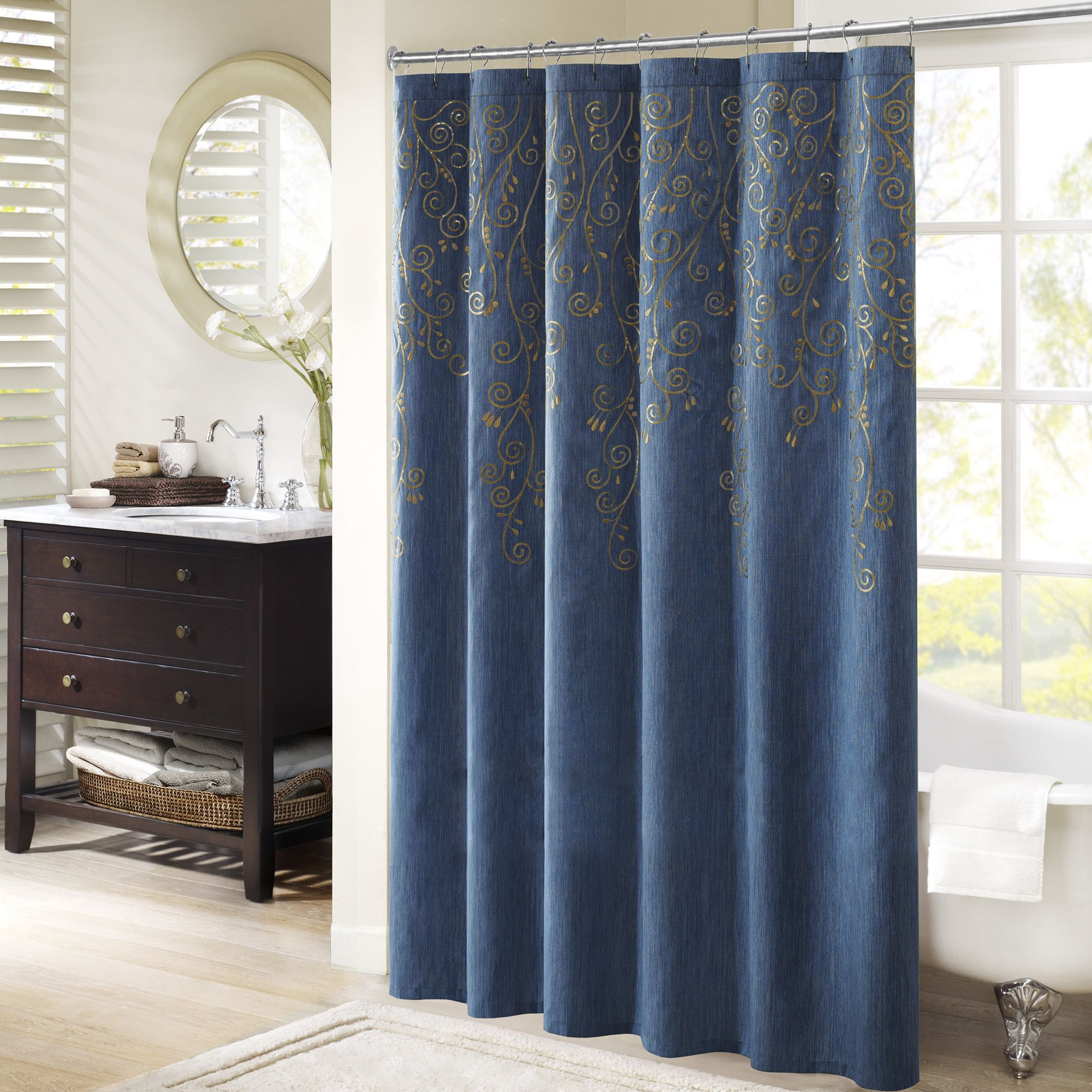 Monrovia embroidered shower curtain bath products and products