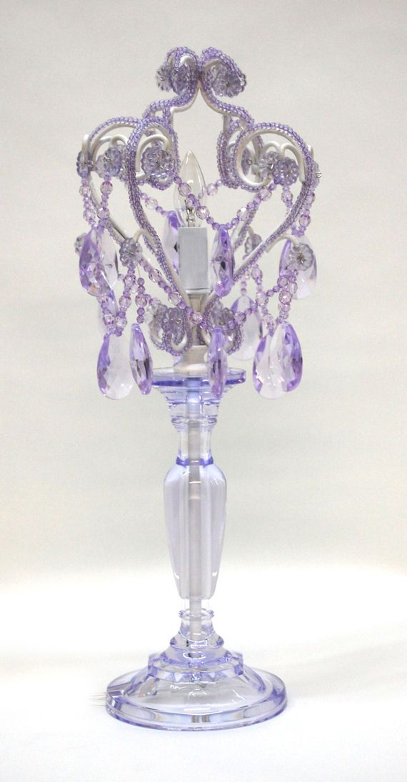 Lavender Topaz Table Lamp Chandelier By The Frog Princess Barbie