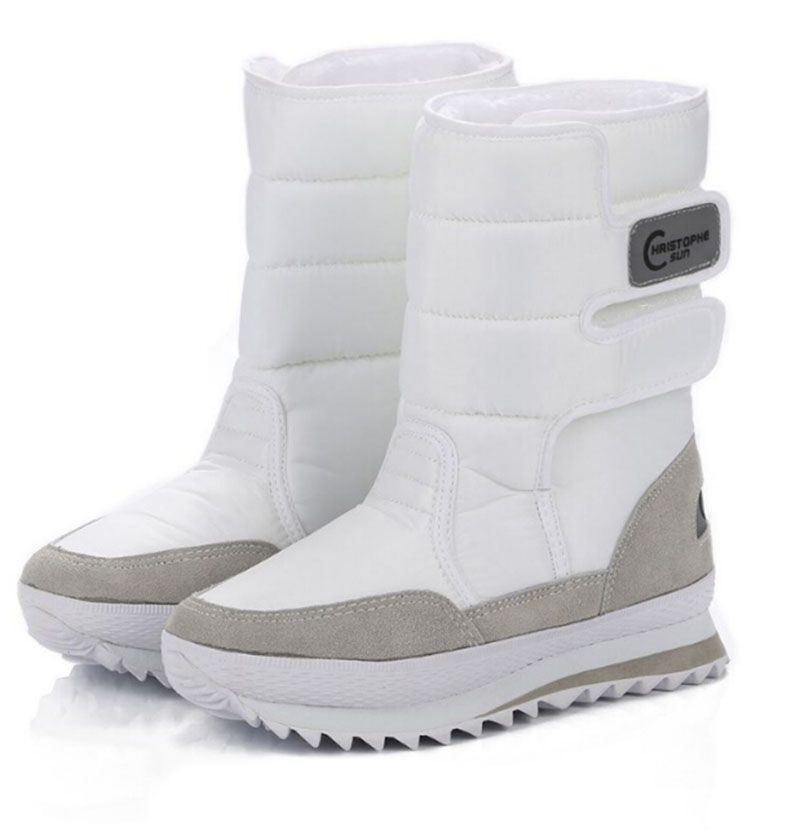 2017 크리스마스 선물 겨울 여성 망 부츠 스노우 부츠 신발 산타 클로스 화이트 스노우 컬러 플러스 사이즈 미국 뜨거운. ZYMY-xz-29