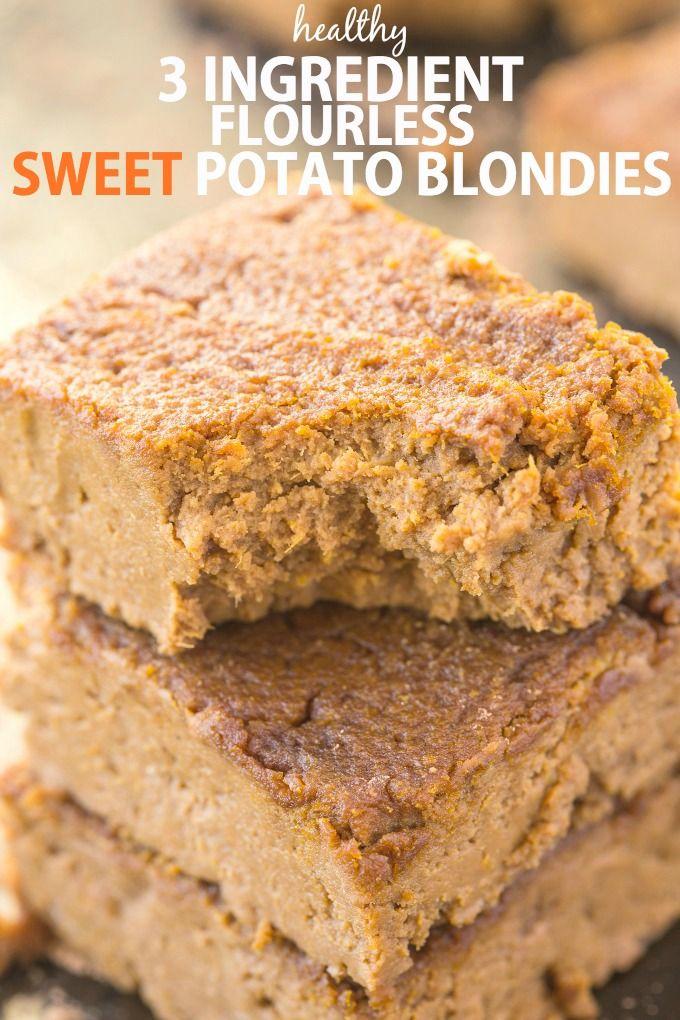 Three Ingredient Flourless Sweet Potato Blondies 3