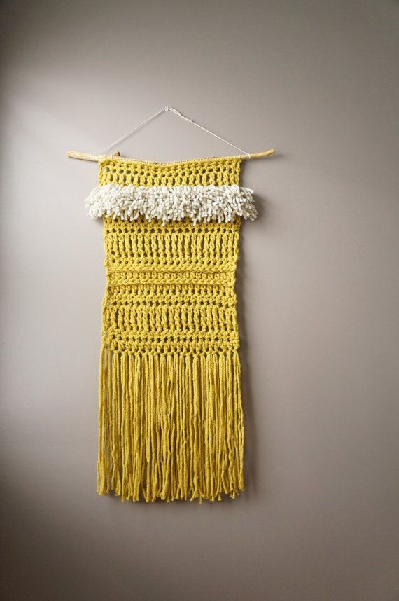 Woven Wall Hanging Yellow Green / Extra Large by LemonCucullu ...