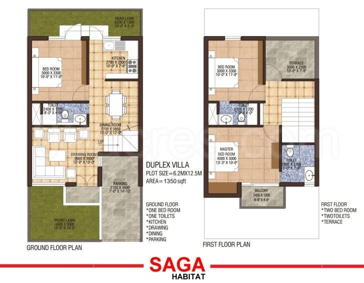 900 sq ft duplex house plans in india arts dada Indian villa floor plans