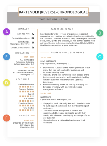 How To Write A Resume Rg Chronological Resume Resume Examples Best Resume Format
