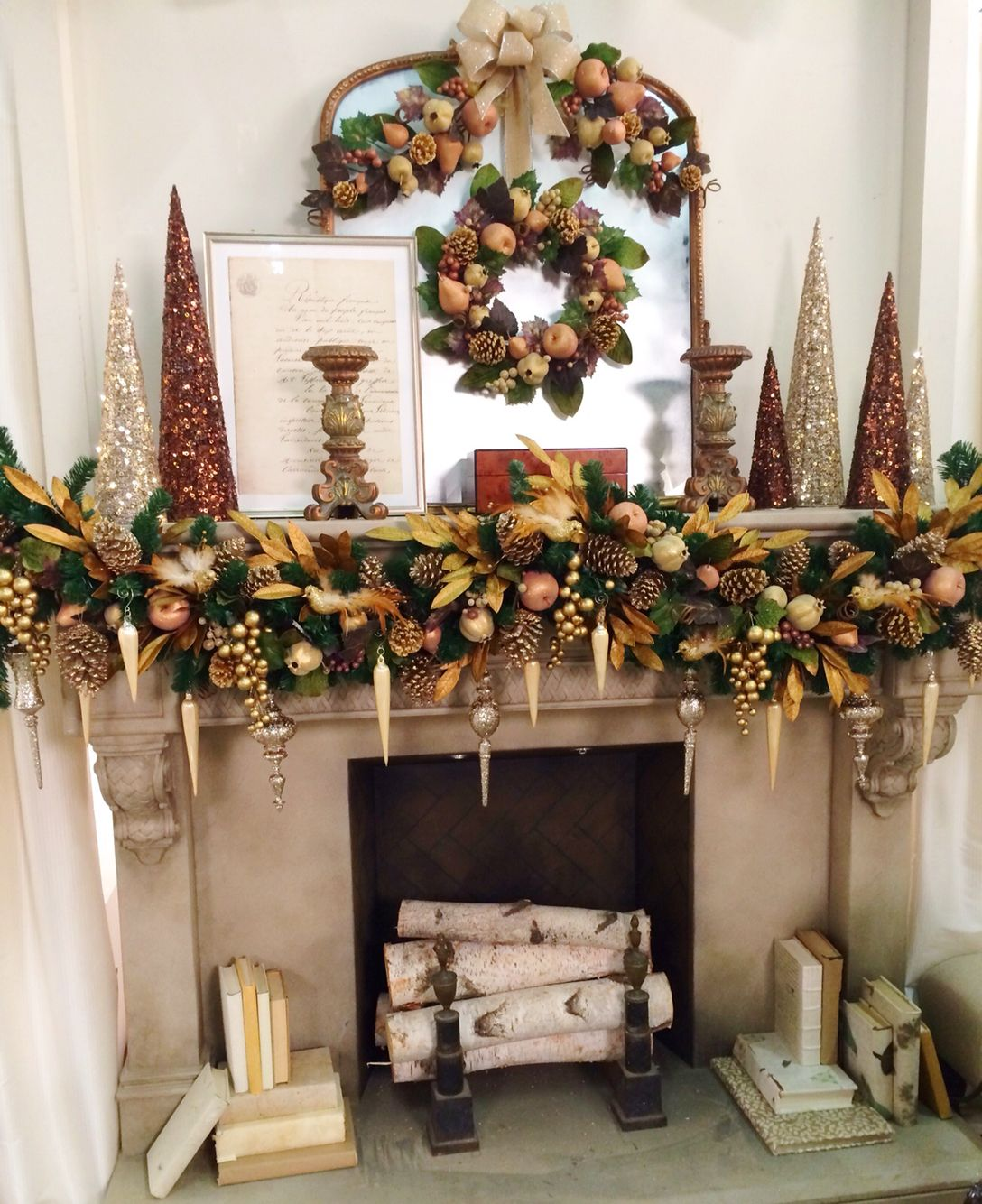 Cordless Pre Lit Christmas Garland