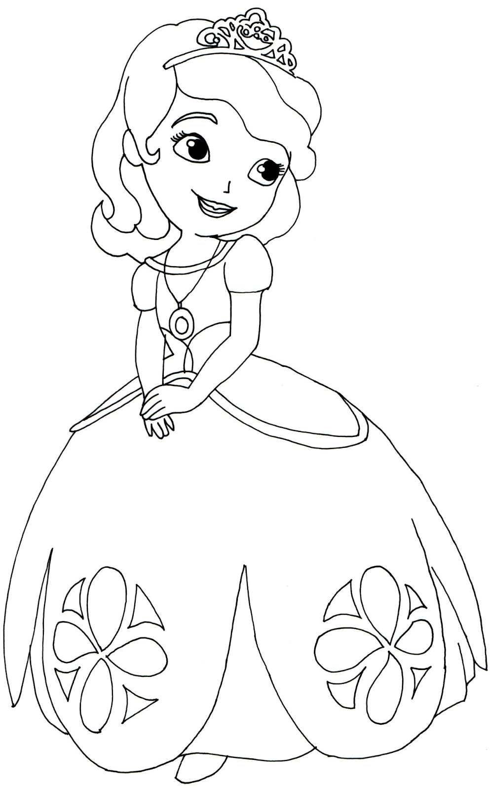 Sofia The First Coloring Page Basic Outfit Png 993 1600 Coloring Books Cartoon Coloring Pages Princess Coloring Pages