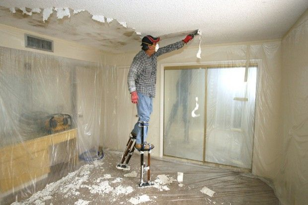 When You Ve Lost Your Taste For Popcorn Ceilings Popcorn Ceiling Removing Popcorn Ceiling Remove Textured Ceiling