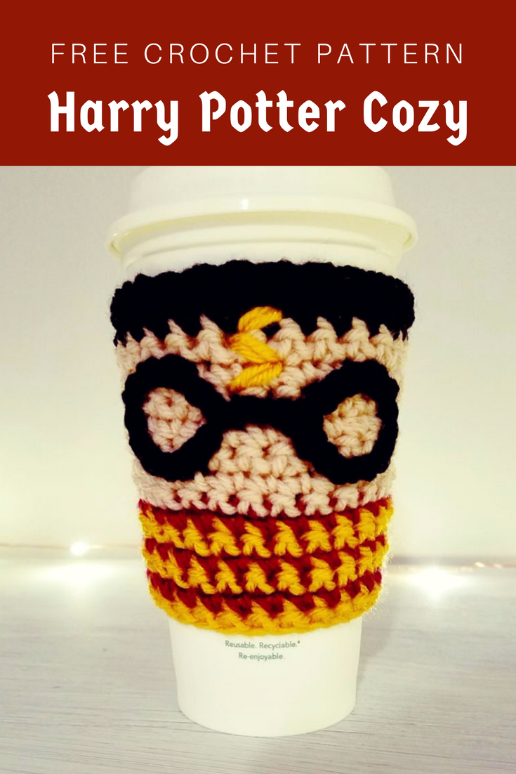 Harry Potter Coffee Cozy: Free Crochet Pattern
