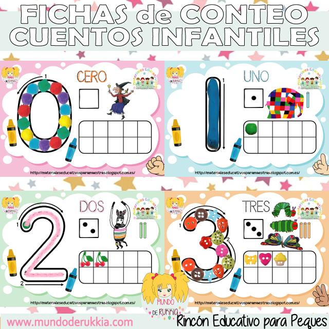 Fichas de Números - Plantillas de Conteo para Plastilina de Cuentos ...
