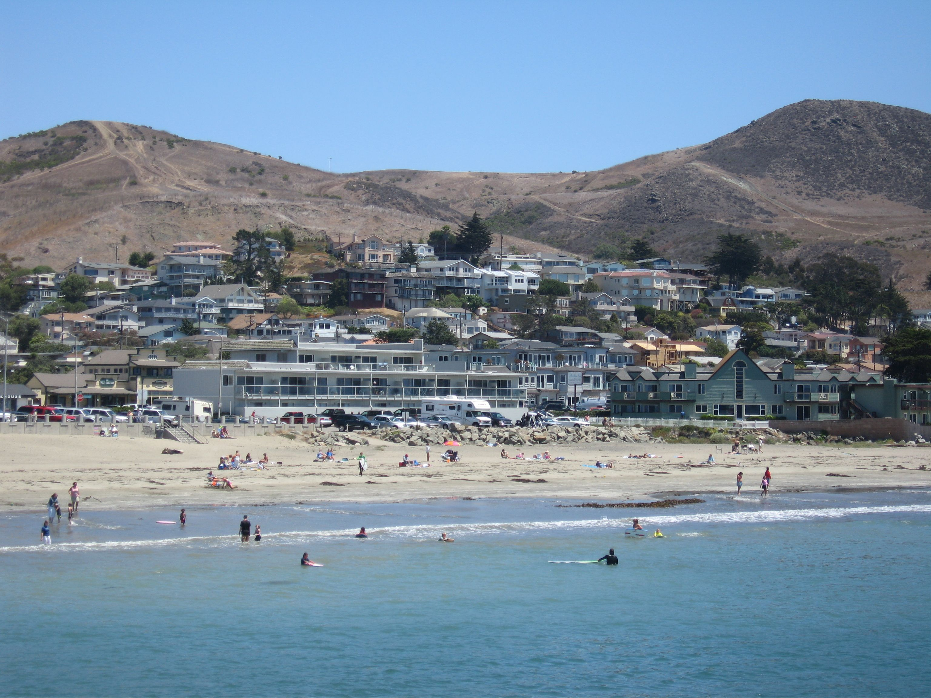 Ca Beaches Cayucos California Small Beach Town