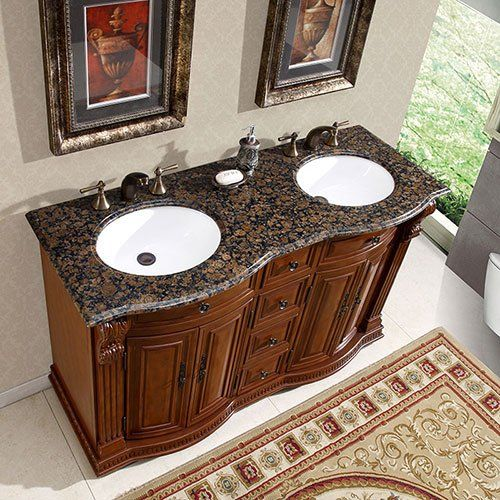 Coolest 55 Inch Double Sink Bathroom Vanity Top 95 For Bathroom