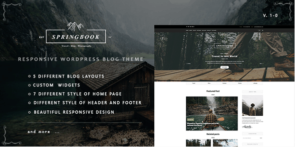 Springbook v1 0 Nulled WordPress Theme Download | WordPres Themes