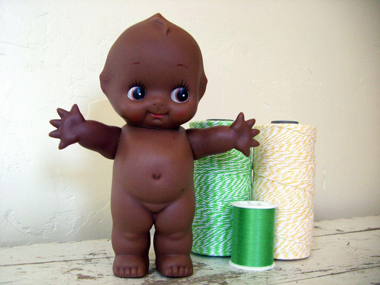 Vintage Miniature African American Boy Cupie Doll Hand Painted