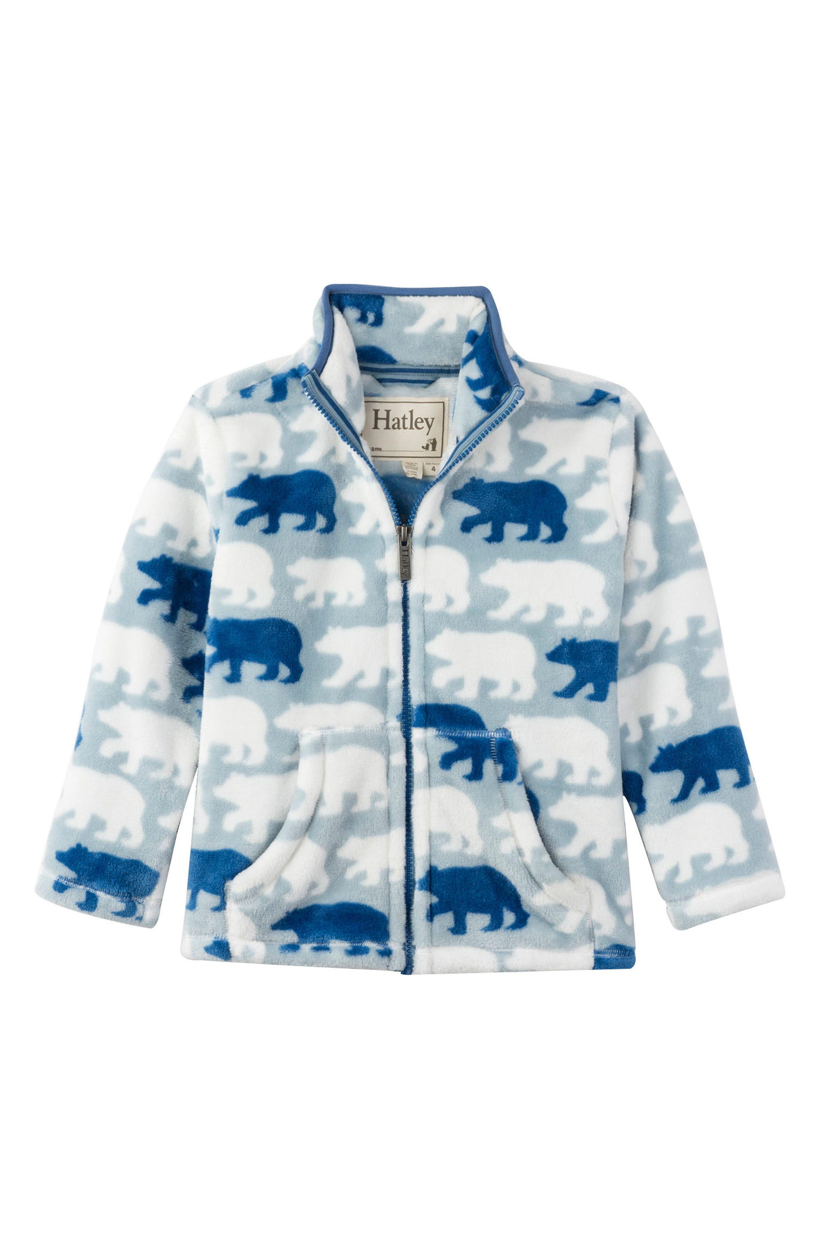 Kids Boys Toddler Clothes Striped Polar Fleece Zipper Jacket Coat Top Outerwear
