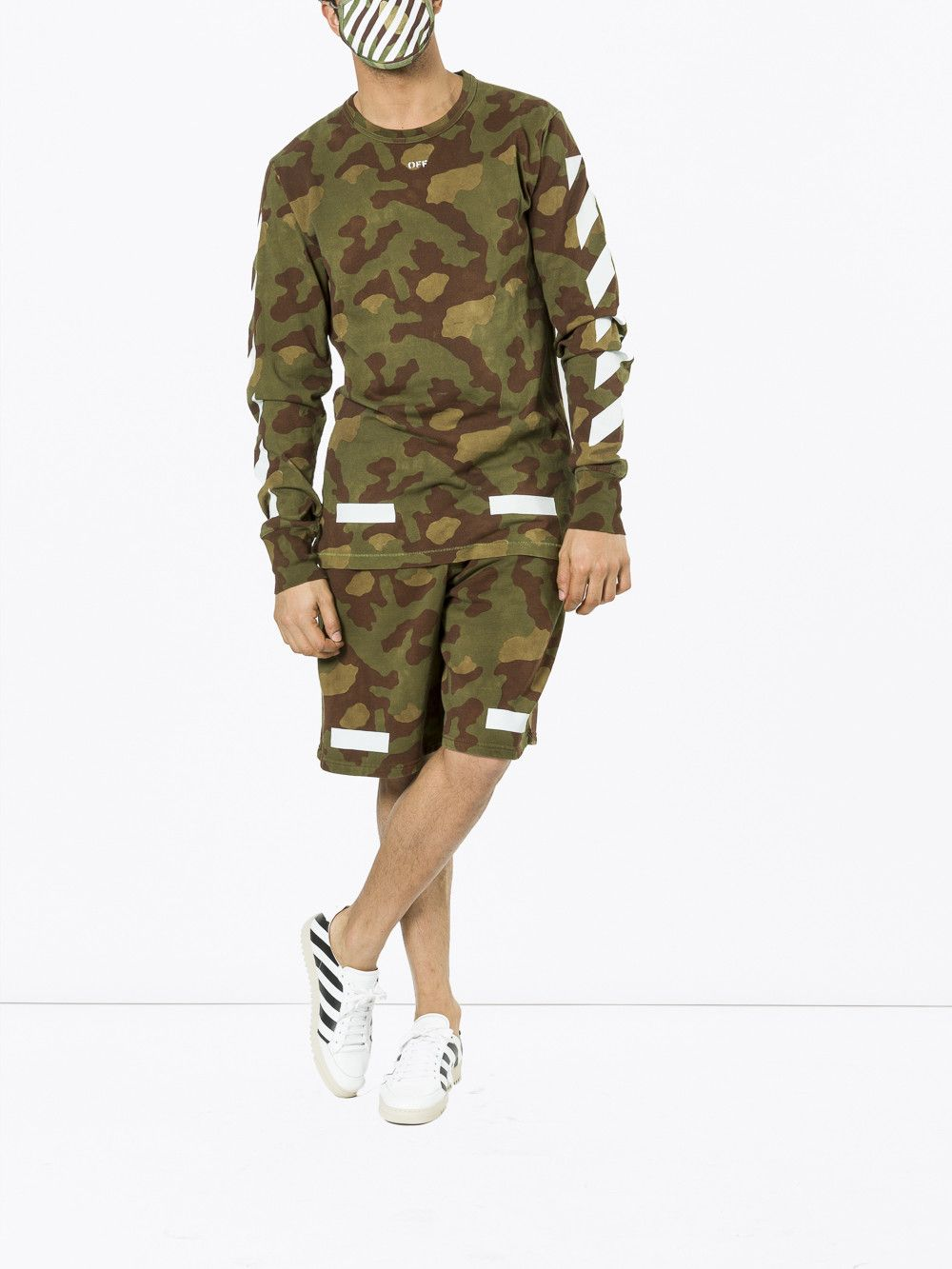 Off White Camouflage Long Sleeve T Shirt Off White Cloth Camouflage Shorts Shorts Long Sleeve Tshirt [ 1333 x 1000 Pixel ]
