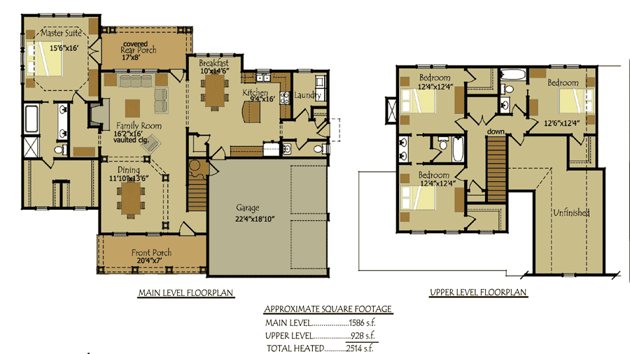 Country Cottage Style Floor Plans Chattahoochie River House