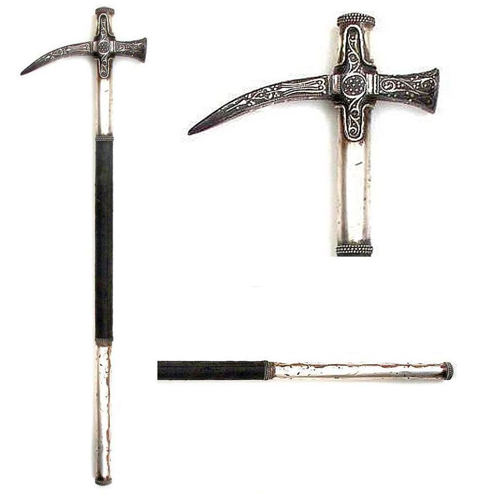 Ottoman cekan war hammer, mid-17th century
