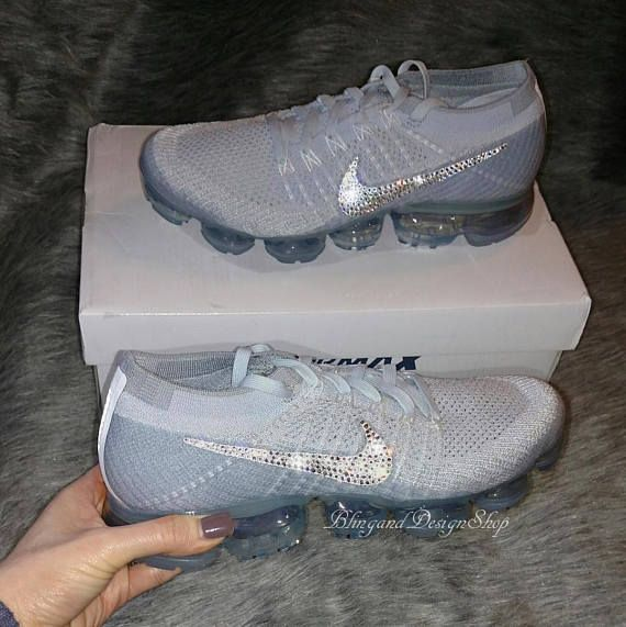 833cc8bbd3c41 Nike Vapormax customized with Swarovski Crystal Rhinestones. Check out this  item in my Etsy shop