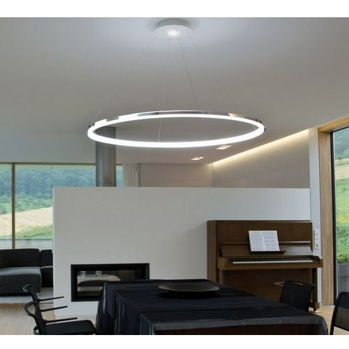 modern luminaire suspendu pendant light avec anneau de led pour la famille bure ideias para a. Black Bedroom Furniture Sets. Home Design Ideas