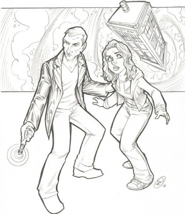 Free Coloring Page Of Doctor Who For Adults