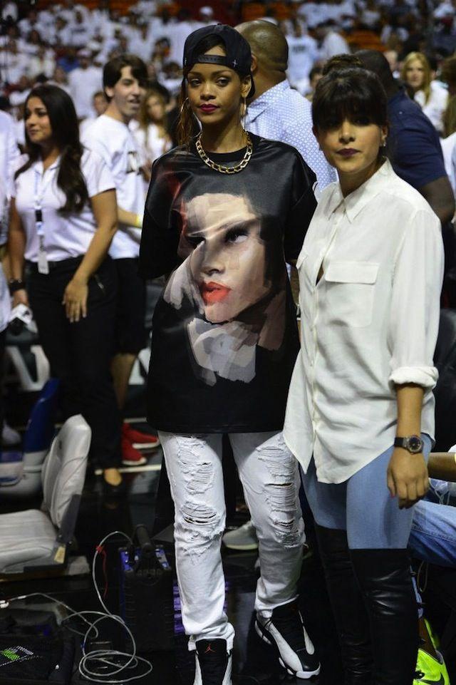 huge discount f929b db320 Rihanna wearing Air Jordan XIII « He Got Game » | Whats On ...