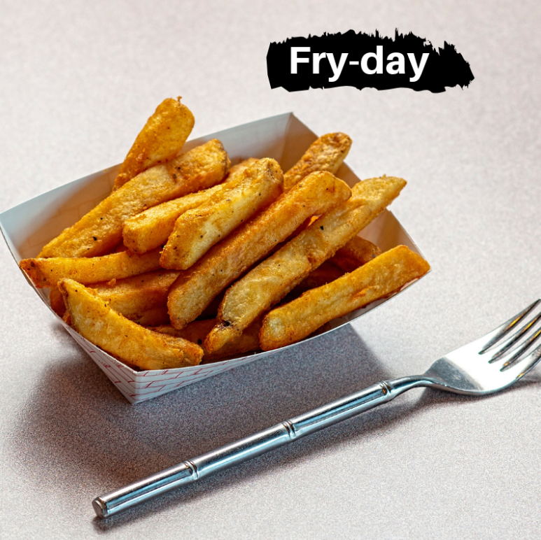 Start your Friday right with some crispy spud fries! Get