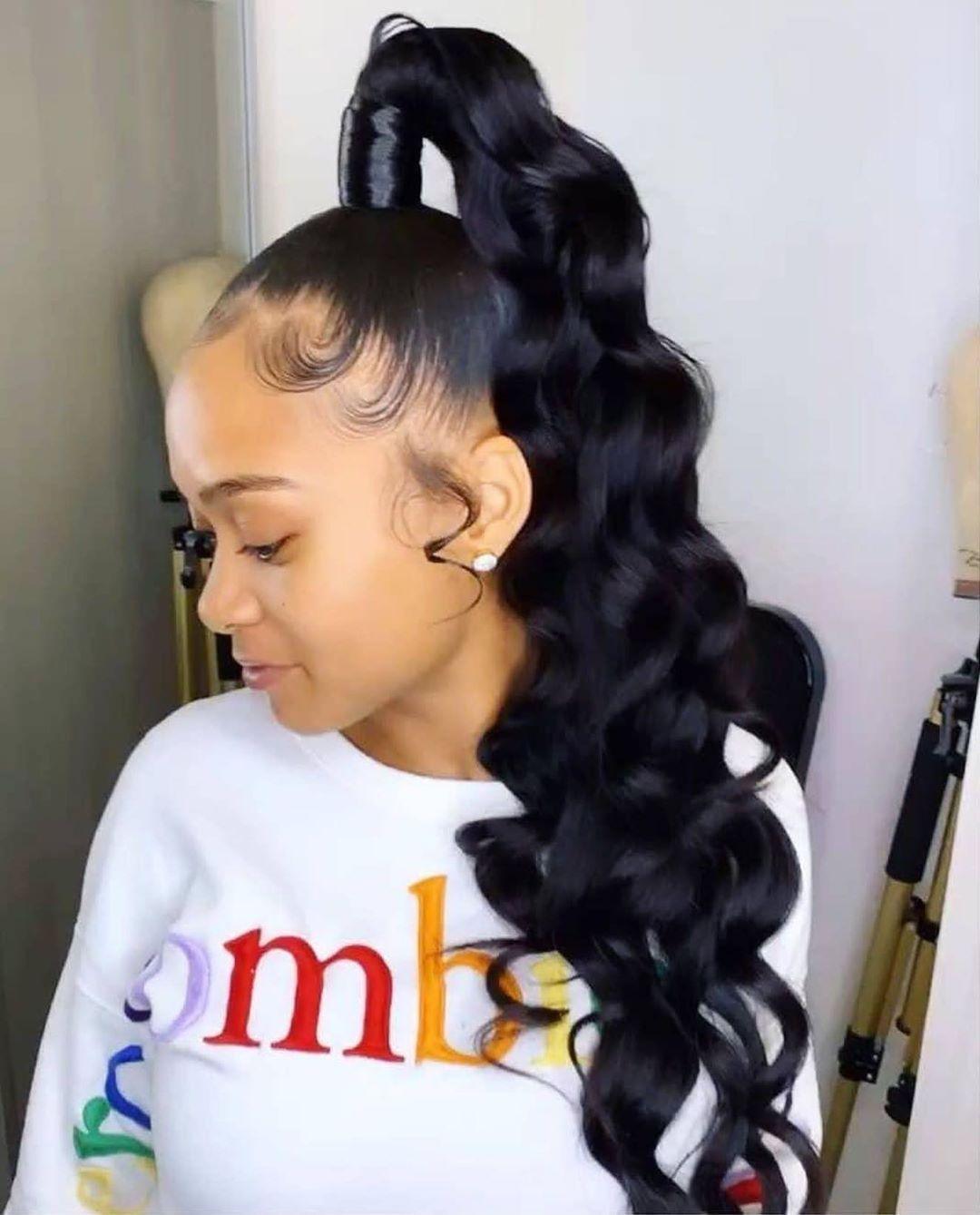 Estelle On Instagram Still Ponytail Season Yay Or Nay Tag Stylist Who Rock This High Ponytail Hairstyles Hair Ponytail Styles Weave Ponytail Hairstyles