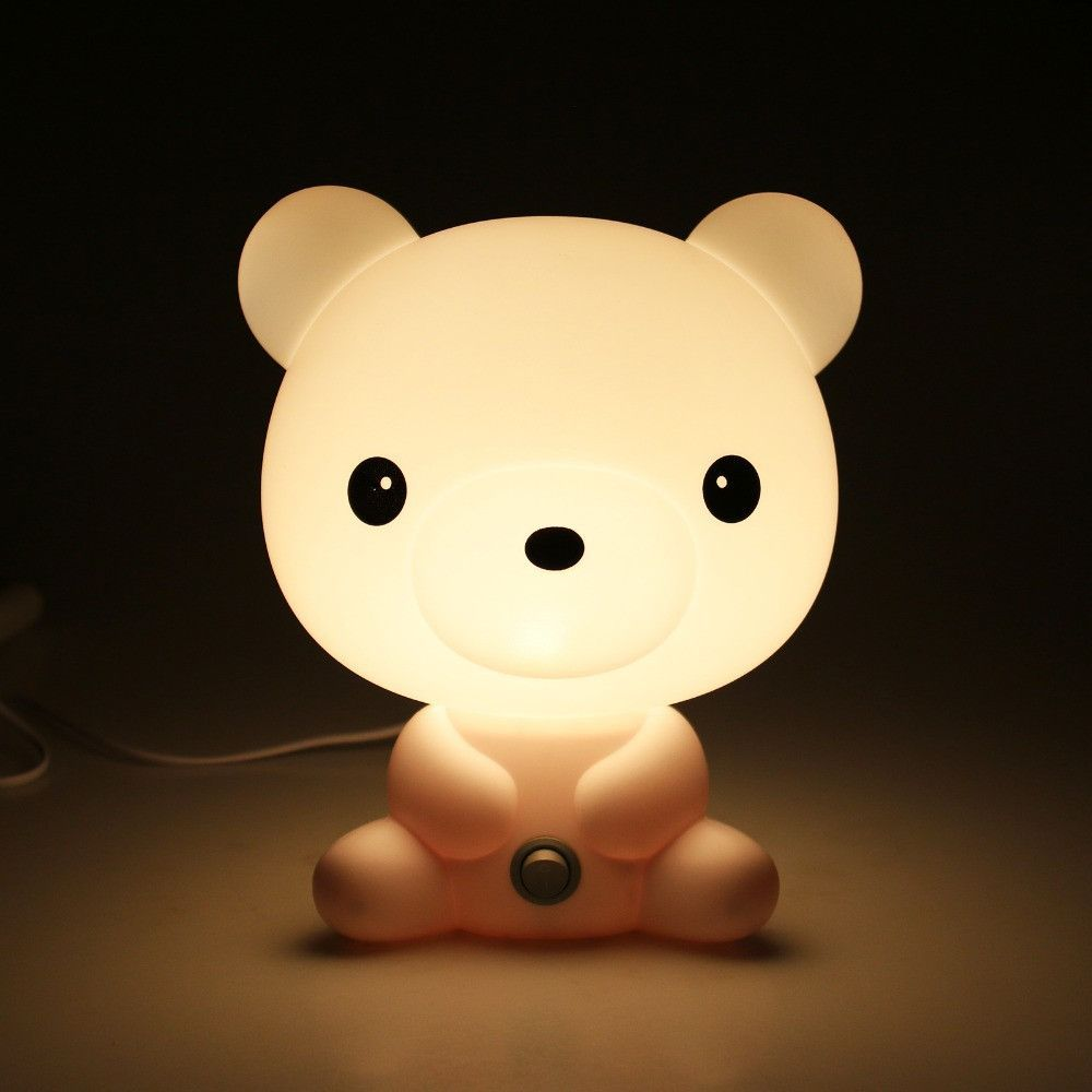 Night Lamp For Bedroom Kids Panda Night Time Sleeping Bed Lamp Cartoon Baby Rooms And