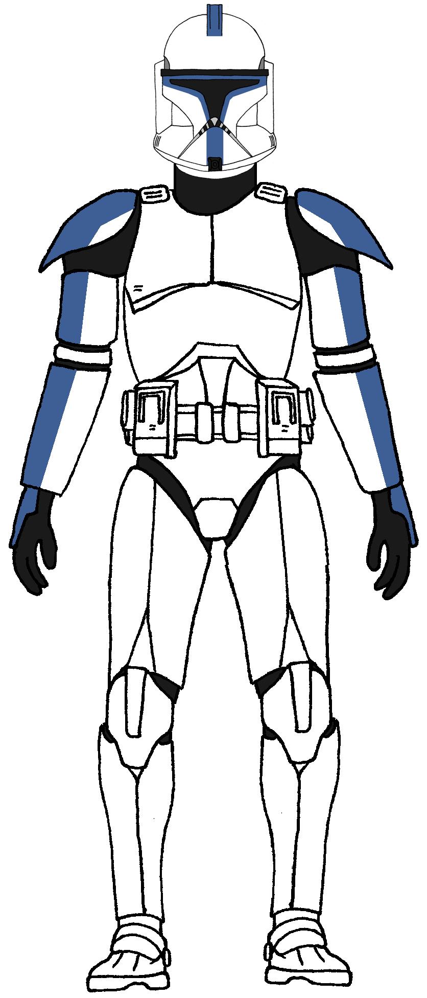 Clone Trooper 501st Legion 1 Star Wars Clone Wars Star Wars Drawings Star Wars Captain