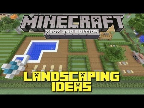 minecraft xbox 360 landscaping ideas and tutorial backyard tutorial http