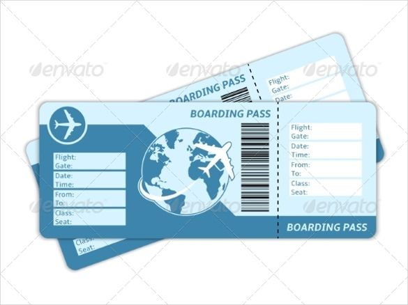 Blank Ticket Template U2013 21+ Free PSD, Vector EPS, AI, Word Format  Airline Ticket Template Word