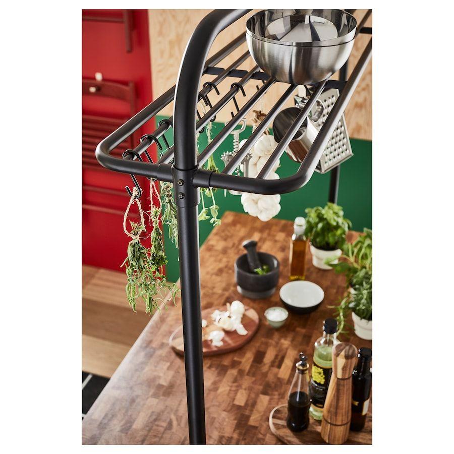 Best Ikea Vadholma Black Rack For Kitchen Island In 2020 Ikea 640 x 480
