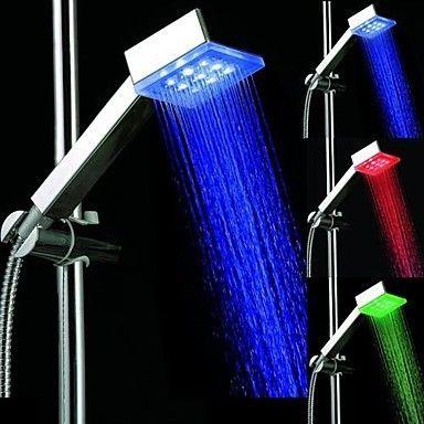 3 Farben-Platz Temperature Controlled LED-Licht Top-Spray - led licht für badezimmer
