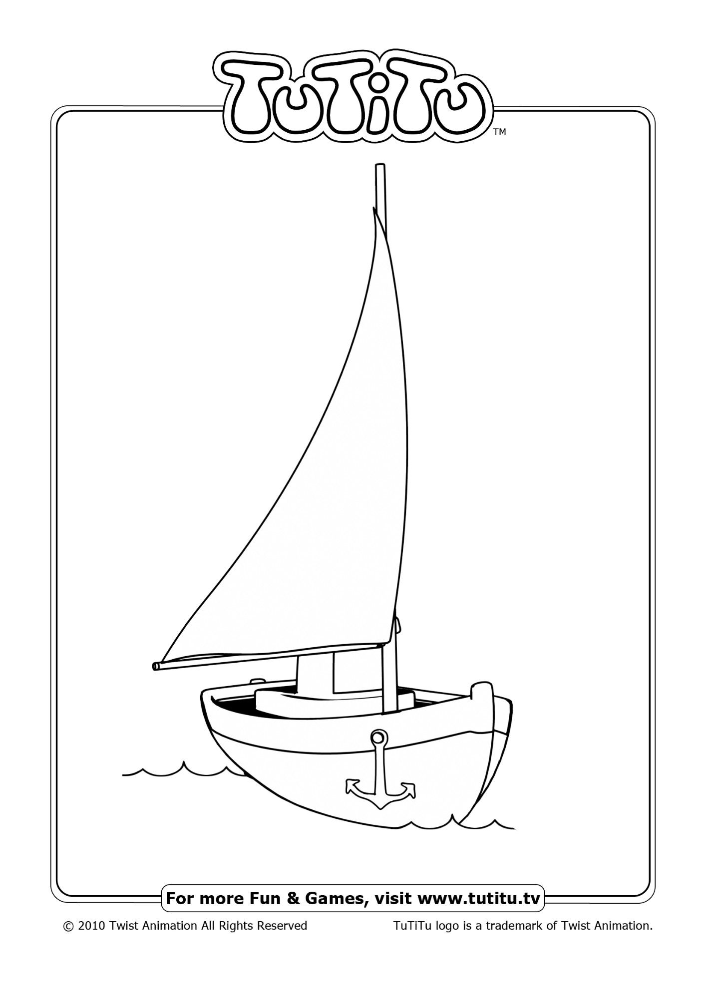 Free coloring pages for kids, Via TuTiTu\'s \