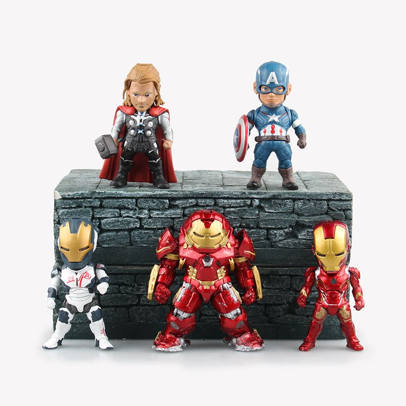 Marvel The Avengers 5PCS Captain America Iron Man Thor Action Figures Doll Toy
