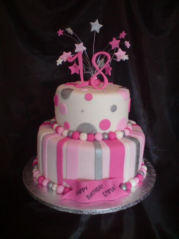 18th Birthday Cake Ideas For A Girl Happy Birthday 18th Birthday