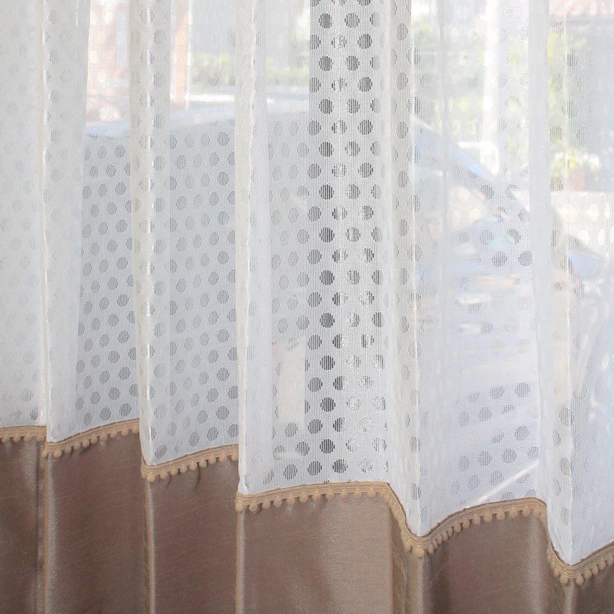 Feng Shui Curtain レースとシャンタンドレープのアンサンブル カーテン カーテン 丈 カーテン生地