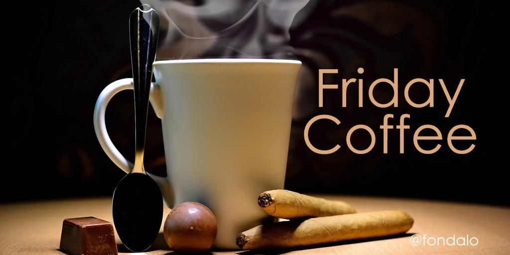 COFFEE!!!!!  RT @fondalo: #Favorite things... #coffee #Friday #weekend