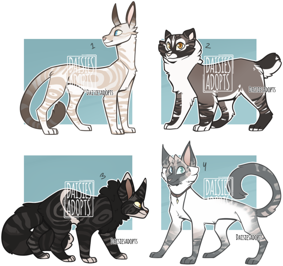 Cat adoptables CLOSED by DaisiesAdopts Warrior cat oc