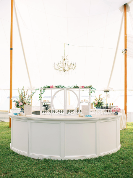 Wedding Bars Buffet Inspiration And Decor Something Vintage Rentals In 2020 White Weddings Reception Wedding Reception Decorations Tent Wedding Reception