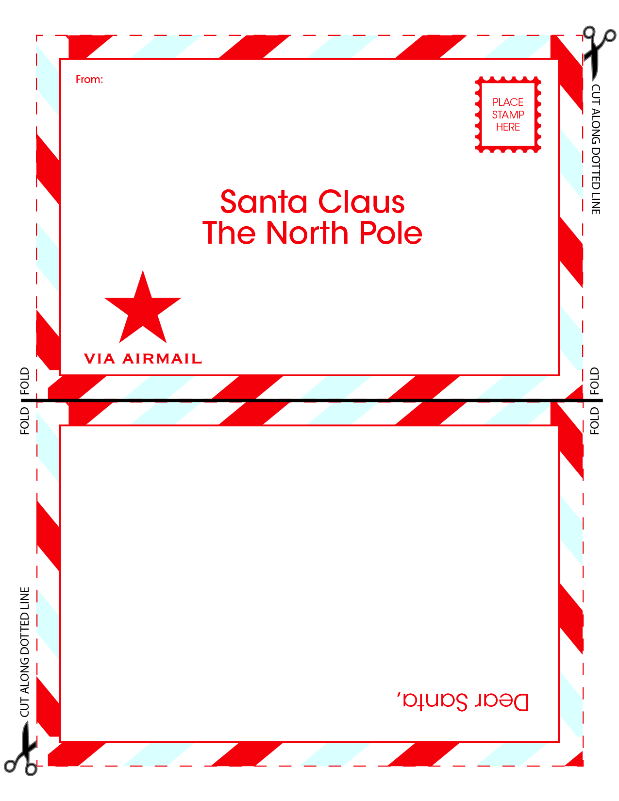 Free Santa Templates Santa Letters  Letter To Santa Claus